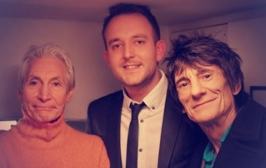 Charlie Watts,Ross Dines, Ronnie Wood