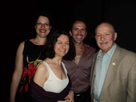 Erv Raible, Fiona-Jane Weston,with Seth Hampton,  Mireille Rjavec at the International Cabaret Conference at Yale 2011
