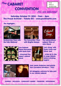 2014 Cabaret Convention poster