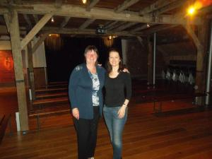 Procucer Liz Millward and Fiona-Jane Weston in the TocH hop barn